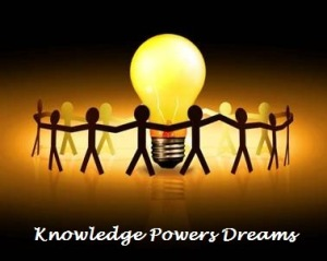 Knowledge powers dreams with text