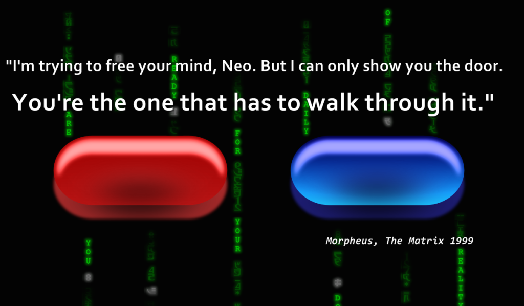 matrix blue red pill